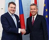 Staatssekretär Lopatka trifft den tschechischen EU Staatssekretär Belling (8382436995).jpg