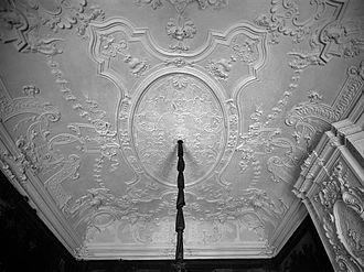 Plaster - Dutch Rococo plasterwork ceiling, 1735