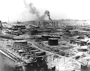 United States antitrust law - Standard Oil (Refinery No. 1 in Cleveland, Ohio, pictured) was a major company broken up under United States antitrust laws.