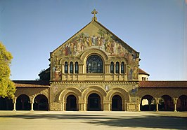 Stanford Memorial Church facade - Stanford University, Palo Alto, California.jpg