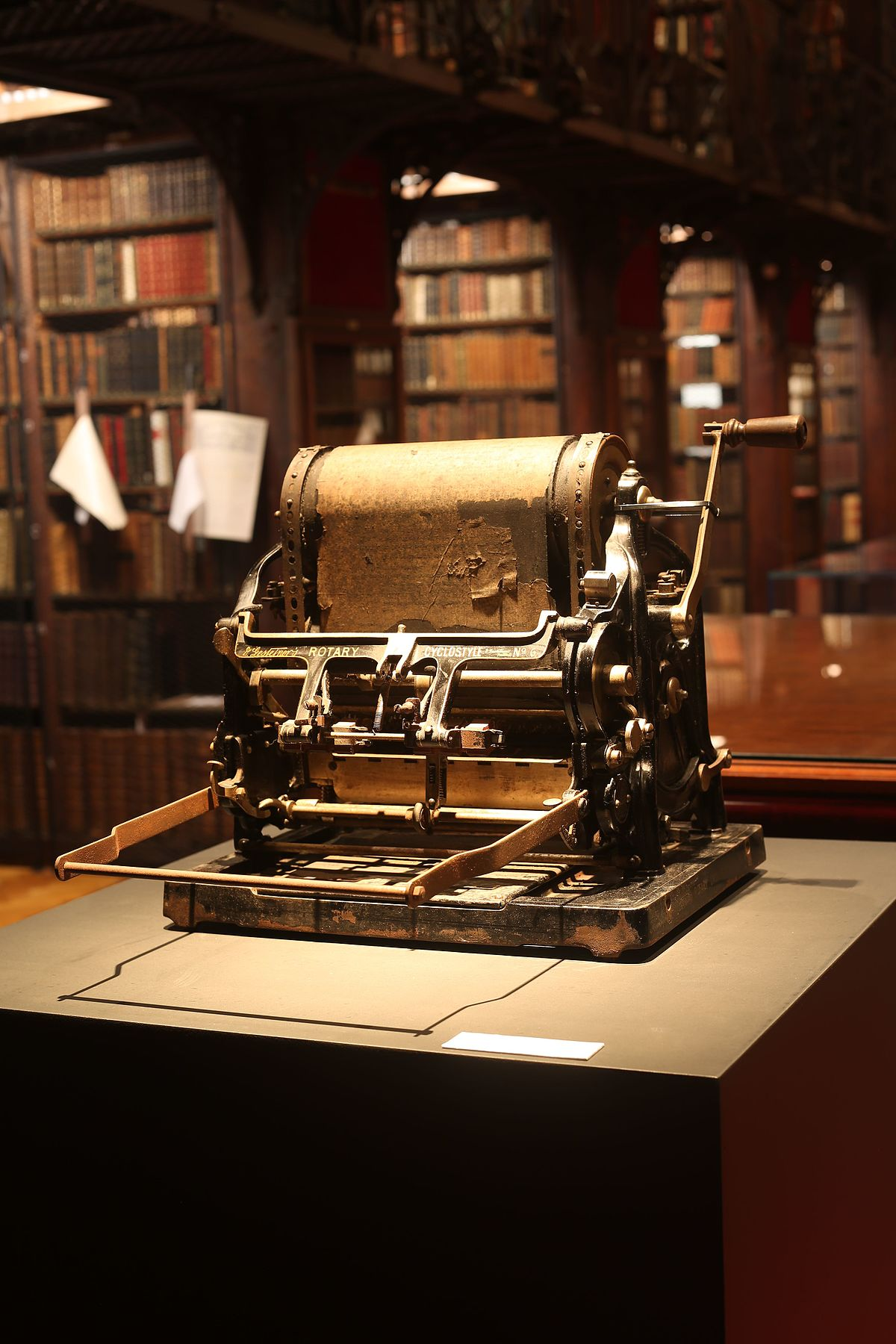 1200px Stencil machine with its last paper in%2C Hendrik Conscience Heritage Library%2C Antwerp%2C Belgium%2C 2016 07 26 French Press