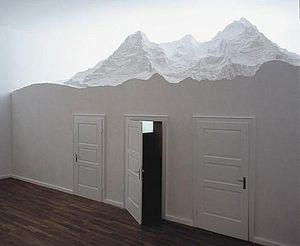 Stephan Huber - 8,5 Zi.Wohnung f.Künstler, 49 J., 2002, Städtische Galerie im Lenbachhaus München (Munich), detail