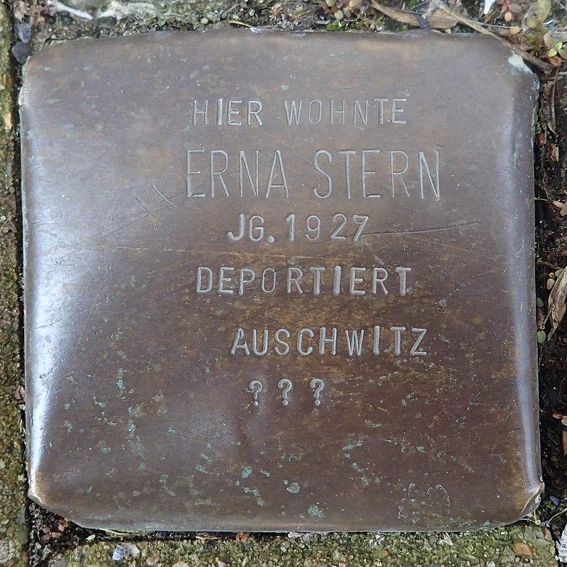 Stolperstein für Erna Stern