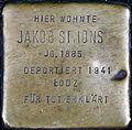 Stumbling stone for Jakob Simons (Neumarkt 25)