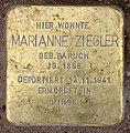 Stolperstein Lessingstr 8 (Hansa) Marianne Ziegler.jpg