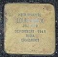 Stolperstein Louis Marx, Gescher Bushaltestelle Fabrikstraße.jpg