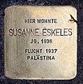 Stolperstein Meinekestr 3 (Charl) Susanne Eskeles.jpg