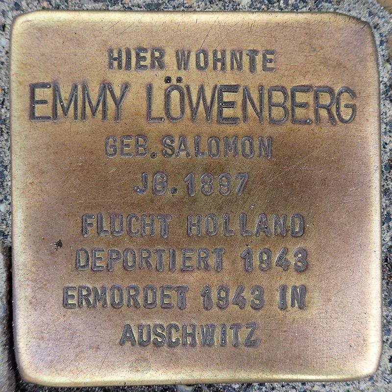 Stolperstein Metelen Schilden 15 Emmy Löwenberg