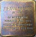 Stolperstein Salzburg, Johann Graber (Paris-Lodron-Straße 9).jpg