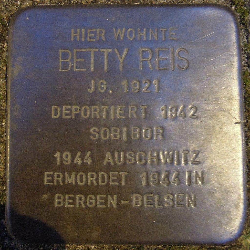 Stolperstein für Betty Reis