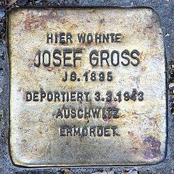 Photo of Josef Gross brass plaque