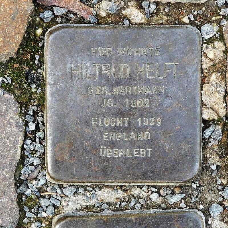 Stolperstein für Hiltrud Helft, Färbergasse 2, Wurzen.JPG