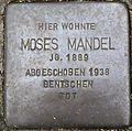 Stumbling block for Moses Mandel (Lungengasse 41)