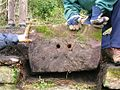 Stone railway sleeper block.JPG