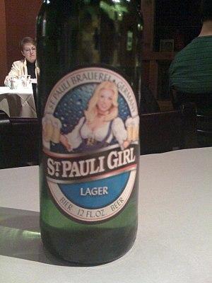 St. Pauli Girl - St. Pauli Girl beer bottle