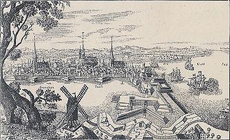 Siege of Stralsund (1711–15) - Image: Stralsund 1715