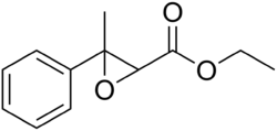 Strukturformel von Ethyl-2,3-epoxy-3-phenylbutyrat