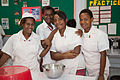 Students from Caritas Technical Secondary School in various classrooms, East Boroko, PNG. (10725886734).jpg