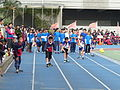Students on Runway Ready to Start in Sport Game 20131207a.JPG