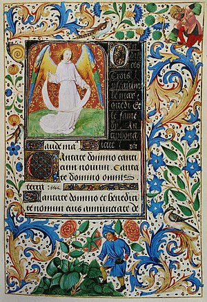 Psalm 96 - Beginning of the Cantate Domino (Ps 96), Hours of Mary of Burgundy, 1477