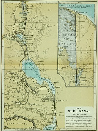 Suez Canal - Suez Canal, ca 1914