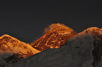 Mount Everest - Morning view, Mount Everest from its southern side