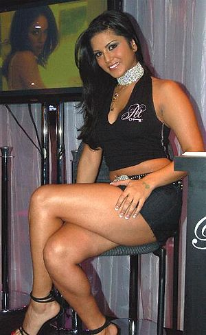 Porn star Sunny Leone at the 2006 Adult Entert...