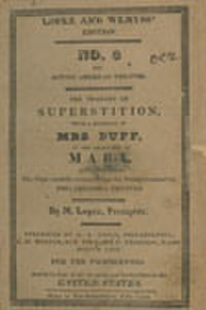 James Nelson Barker - Superstition Poster