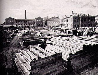 Philipp Holzmann - Philipp Holzmann warehouse in Frankfurt am Main in 1875