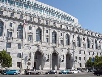 Supreme Court of California - The Court's headquarters in San Francisco at the Earl Warren Building and Courthouse, which it shares with the Court of Appeal for the First District