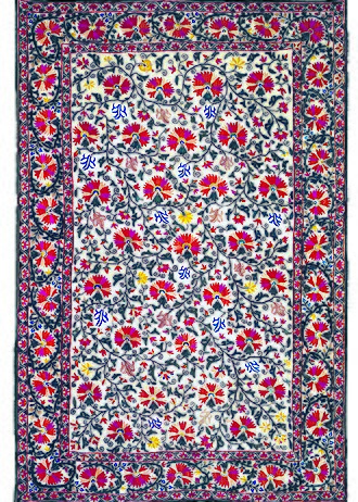 Bukhara - Suzani textiles from Bukhara are famous worldwide. This one was made before 1850