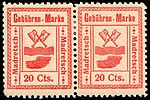 Switzerland Madretsch 1903 revenue 20c - 1 pair.jpg