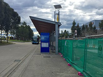 Rouse Hill railway station - Rouse Hill Station worksite, adjacent to North West T-way