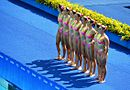 Synchronized swimming at the 2016 Summer Olympics -Presentation of the Brazilian team 03.jpg