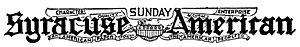Syracuse Telegram - Syracuse American, logo, September, 1922
