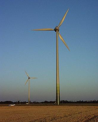 Renewable energy in Hungary - Wind farm near Mosonszolnok