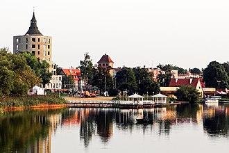 Szczytno - View of the lake.