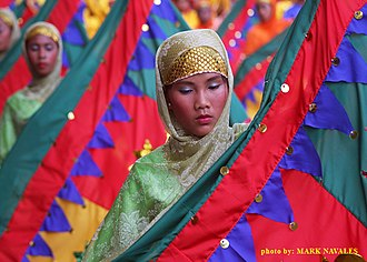 Maguindanao people - A Maguindanaon dance performed during the T'nalak Festival in Koronadal, South Cotabato.