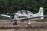 T-28 Trojan warbirds (NX377WW) at Kleine Brogel Air Base (1).jpg
