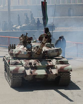 T-62 - Front view of T-62M of the Afghan National Army in Kabul, 2004.