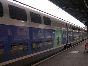 SNCF TGV Duplex - Bi-level carriages allow 45% more capacity than in a single level TGV.