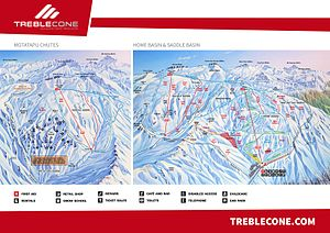 Treble Cone - Treble Cone Trail Map (2013)