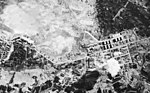 Tachikawa Aircraft Company, Japan, under attack by U.S. Navy carrier aircraft in February 1945.jpg