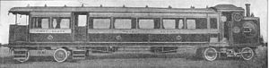 0-2-2 - Railmotor with 0-2-2 locomotive unit c.1905