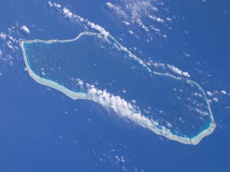Tahanea - NASA picture of Tahanea Atoll.