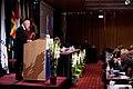 Tal av Nordiska radets nyvalda president, Henrik Dam Kristensen Socialdemokratiet (S) Danmark. Nordiska radets session i Reykjavik 2010.jpg