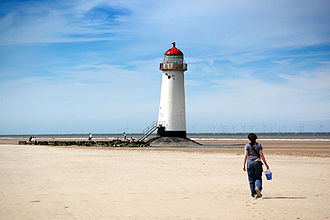 Point of Ayr - Image: Talacre lighthouse 2