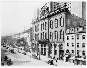New York, Westchester and Boston Railway - Tammany Hall on East 14th Street between Third Avenue and Irving Place