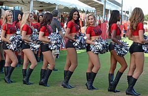 Tampa Bay Buccaneers Cheerleaders - Buccaneers Cheerleaders at preseason camp in 2014