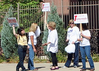 Tom Tancredo - Supporters of Tancredo's gubernatorial bid holding a demonstration in October 2010